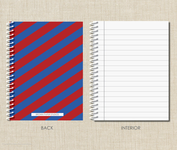 Personalized Rugby Spiral Notebook