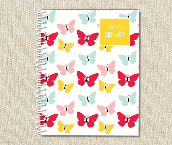 Personalized Spiral Notebook Butterfly