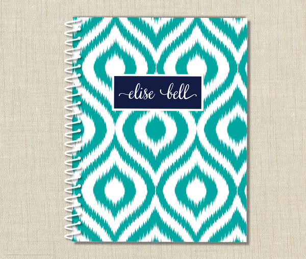 Personalized Ikat Spiral Notebook