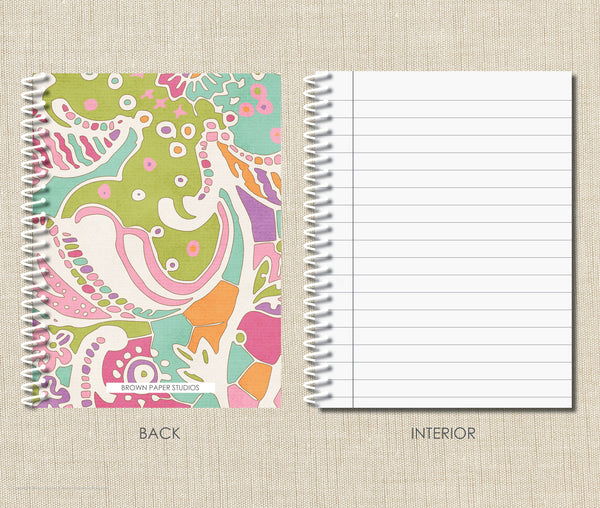 Personalized Spiral Notebook Watercolor