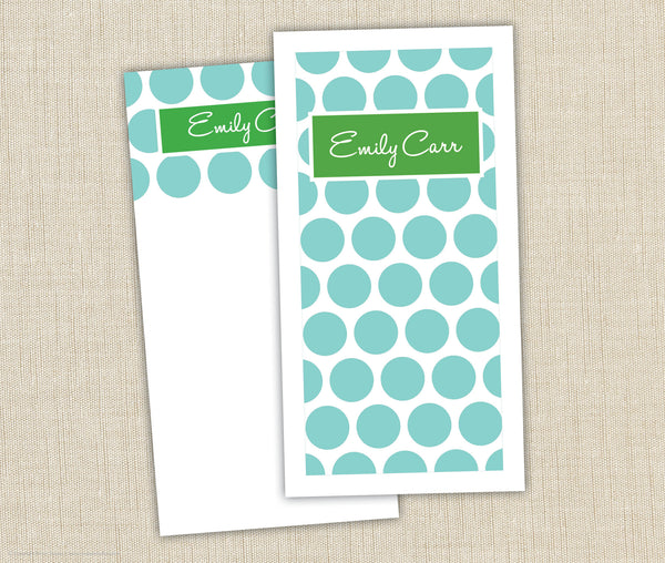 Personalized Notepad Set Dots