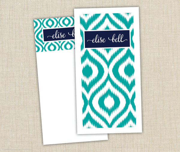 Personalized Notepad Set Ikat