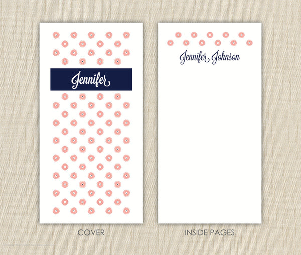 Personalized Notepad Set Flowers