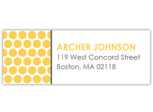 Stylish Dots Return Address Labels