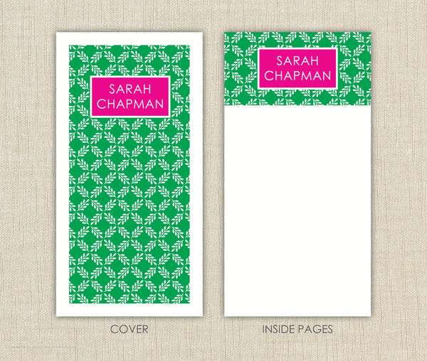 Preppy Personalized Notepad Set