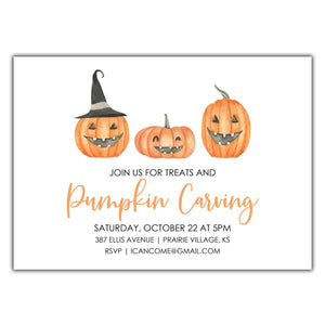 Pumpkin Carving Invitation