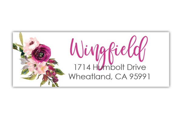 Floral Return Address Labels