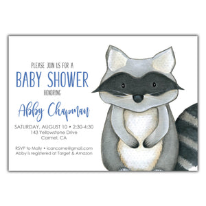 Racoon Baby Shower
