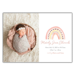 Rainbow Birth Announcement