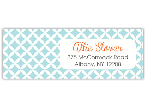 Quatrefoil Return Address Label
