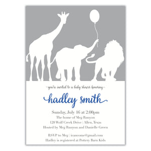 Safari Shower Invitation
