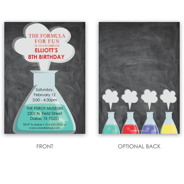 Science Birthday Invitation