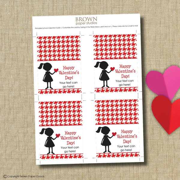 Silhouette Valentine. Instant Download