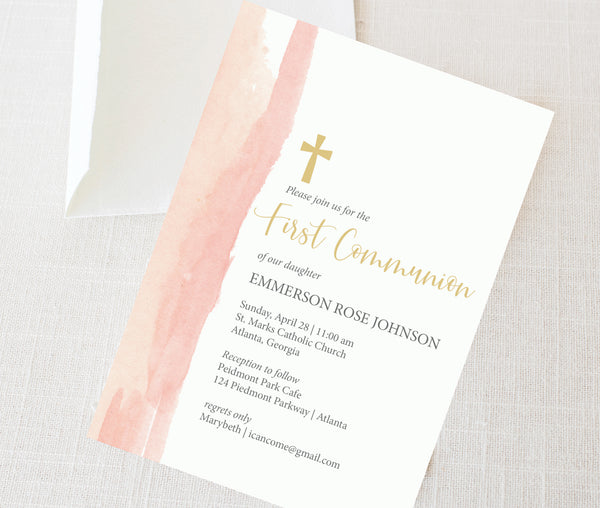 Watercolor First Communion