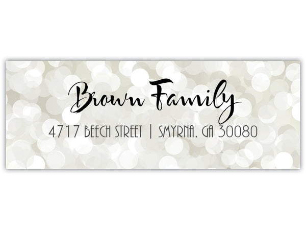 Silver Return Address Label