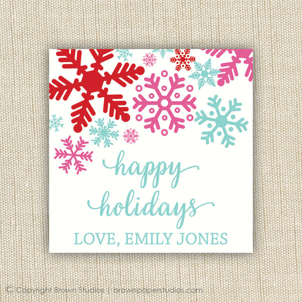 Snowflake Gift Labels