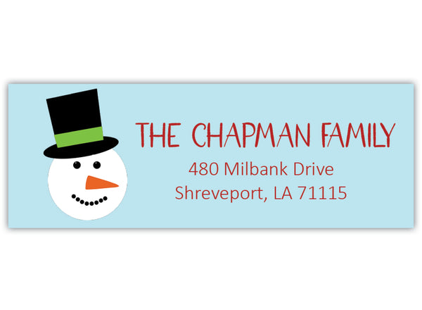 Snowman Return Address Label