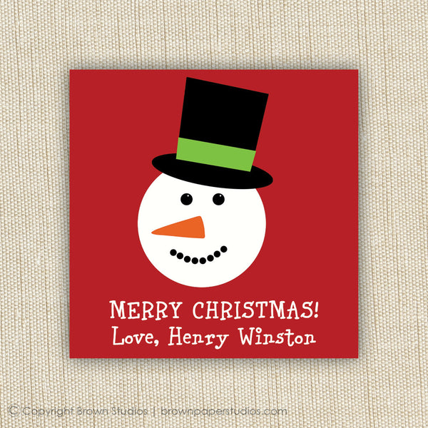 Snowman Gift Labels