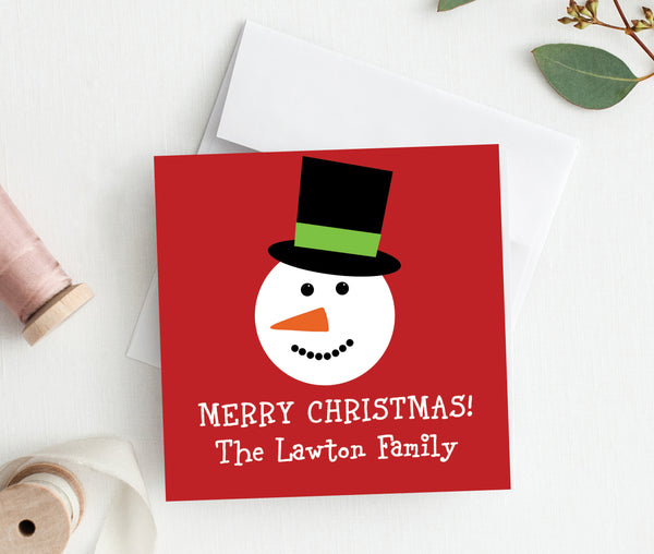 Snowman Enclosure Cards