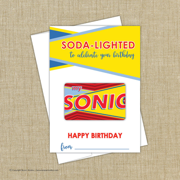 Sonic Birthday Gift Card Holder