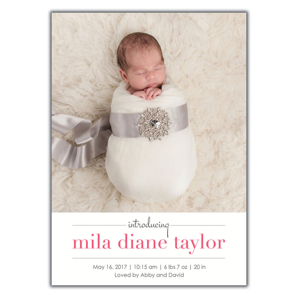 Sophisticated Birth Announcement