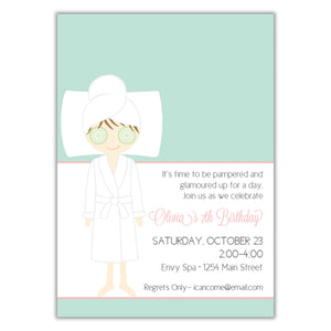 Spa Party Invitation