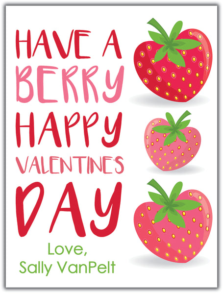 Strawberry Valentine. Instant Download