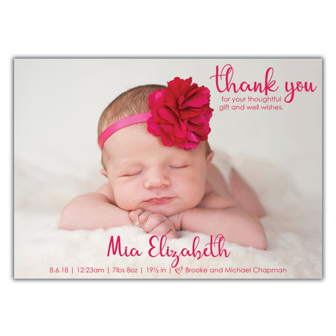 girl birth announcement brown paper studios