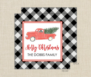 Christmas Truck Enclosure Cards