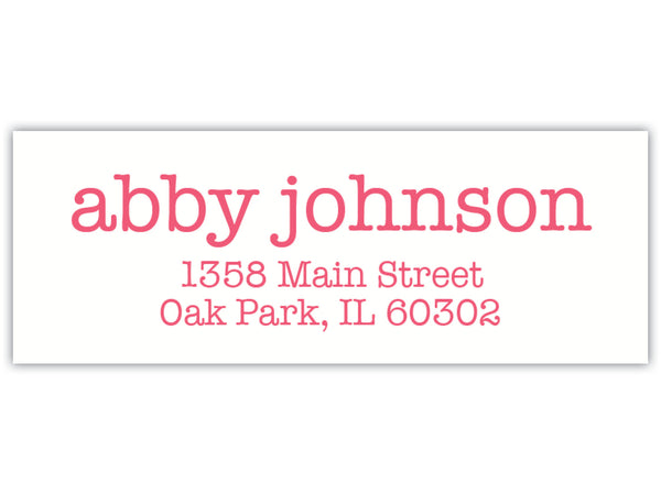 Modern Type Return Address Labels