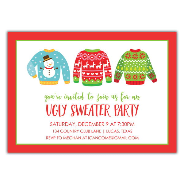 Ugly Sweater Invitation