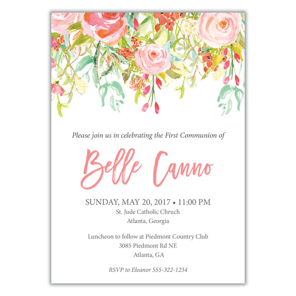 Floral Watercolor Invitation