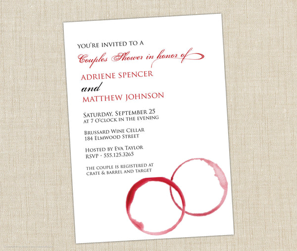 Wine Shower Invitation
