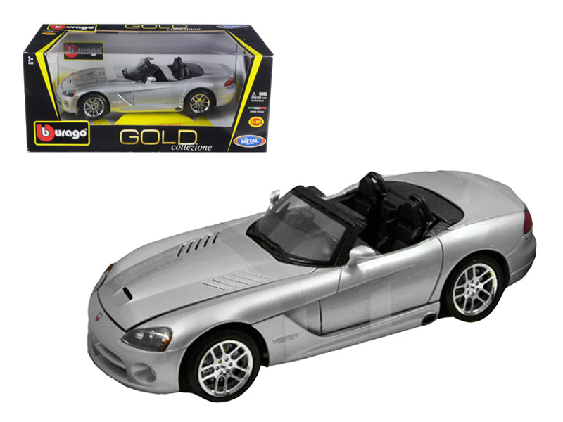2003 Dodge Viper SRT-10 Silver 1:18 Diecast Model
