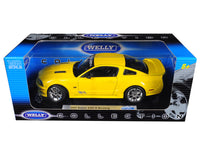 2007 Saleen Ford Mustang S281E 1:18 Diecast Model Yellow - Welly - 12569YL