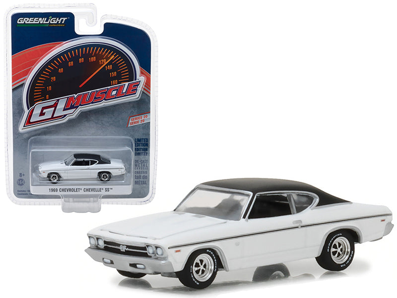 1969 Chevrolet Chevelle SS White with Black Top 1:64 Diecast Model