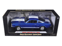 1966 Shelby Mustang GT350 - 1:18 Shelby Collectible Blue w/ White Stripes 152BL