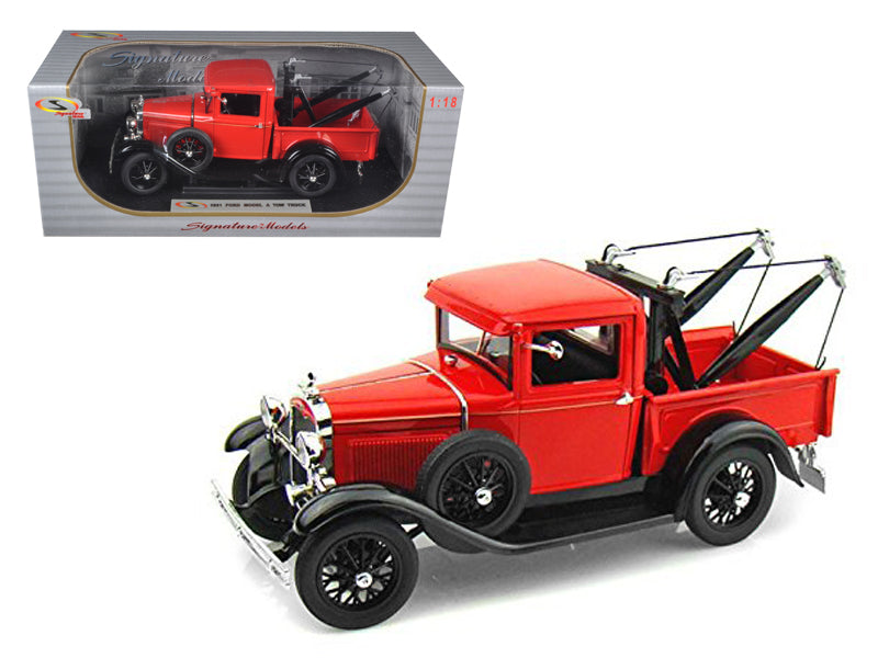1931 Ford Model A Tow Truck 1:18 Diecast Model
