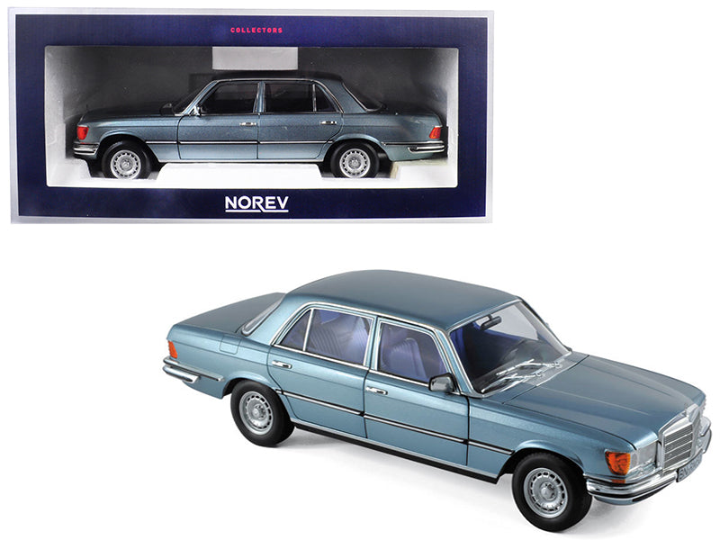 1976 Mercedes Benz 450 SEL 6.9 Grey/Blue Metallic 1:18 Diecast Model