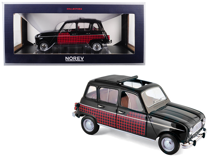 1964 Renault 4 Parisienne Black with Red 1:18 Diecast Model