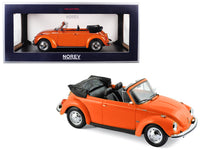 1973 Volkswagen Beetle 1303 Cabriolet Orange 1:18 Diecast Model