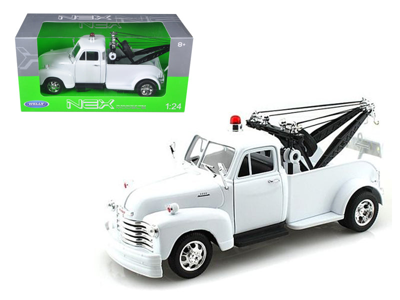 1953 Chevrolet 3800 Tow Truck Plain White 1:24 Diecast Model