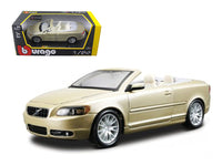 Volvo C70 Convertible Gold 1:24 Diecast Model