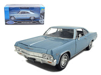 1965 Chevrolet Impala SS 396 Diecast 1:24 Model Blue - Welly - 22417BL