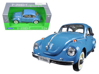 Volkswagen Beetle Hard Top Blue 1:24 Diecast Model - Welly - 22436BL