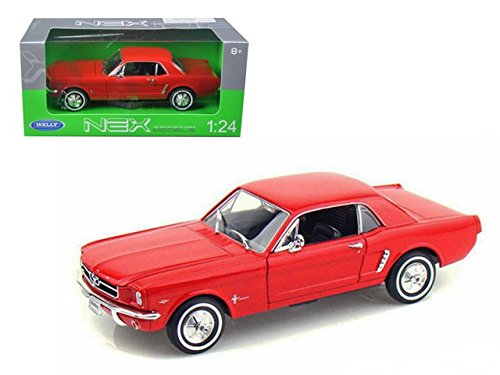 1964 1/2 Ford Mustang Hard Top Red 1:24 Diecast Model