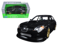 Subaru Impreza WRX STI Black 1:24 Diecast Model - Welly - 22487BK