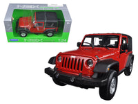 2007 Jeep Wrangler Red 1:24 Diecast Model - 22489H-R