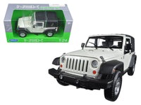 2007 Jeep Wrangler White 1:24 Diecast Model - 22489H-W