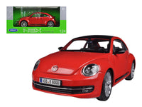 Volkswagen Beetle w/ Sunroof 1:24 Red Diecast Model - Welly - 24032RD